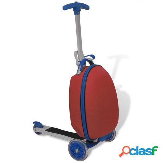 Patinete con mochila para niños rojo
