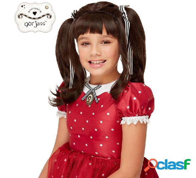 Peluca Negra de Muñeca Ruby Gorjuss Santoro para niña