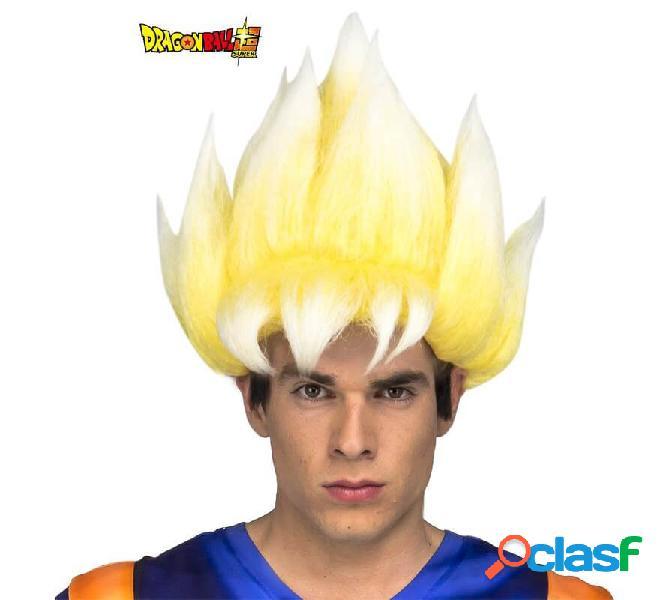 Peluca de Saiyan Son Goku de Dragón Ball en caja para