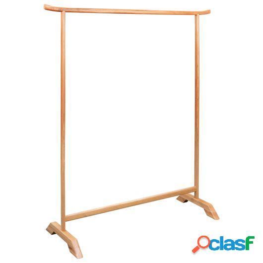 Perchero de ropa de madera de roble maciza 125x150 cm