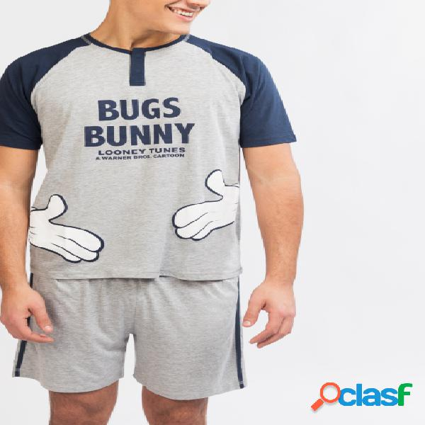 Pijama camiseta y pantalón corto Bugs Bunny - Gisela