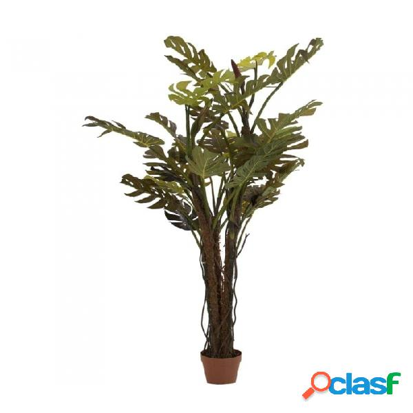 Planta Verde Poliester Y Madera Colonial 28 X 18 175