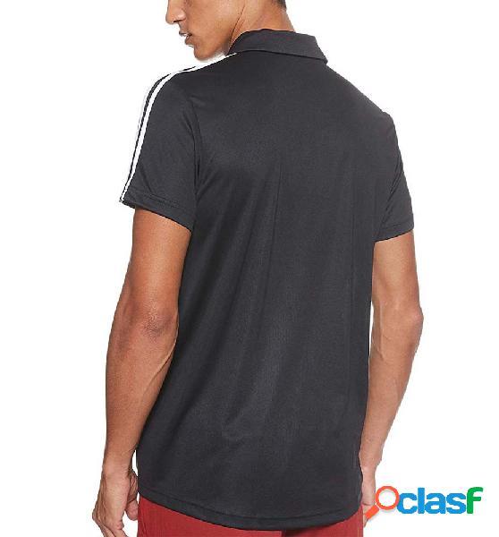 Polo Casual Adidas M D2m 3s Po M Negro