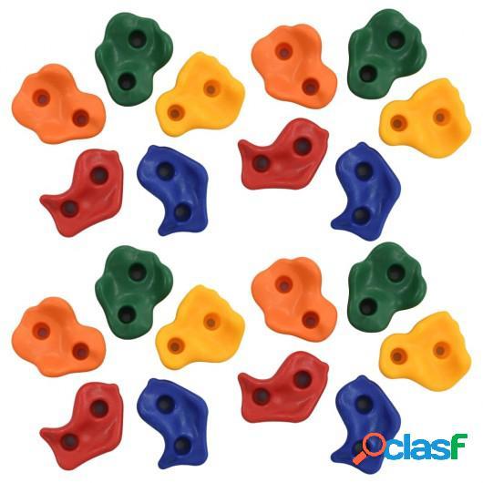 Presas de escalada 20 unidades PE multicolor