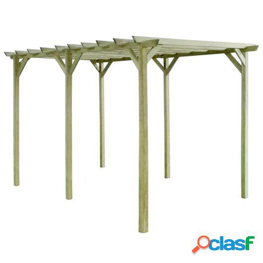 Pérgola de jardín de madera de pino impregnada FSC 4x2x2m