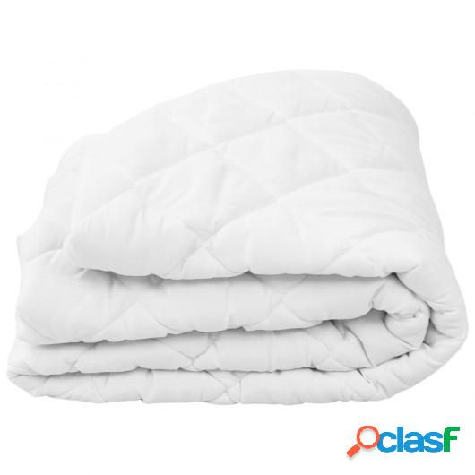 Protector de colchón acolchado pesado blanco 90x200 cm
