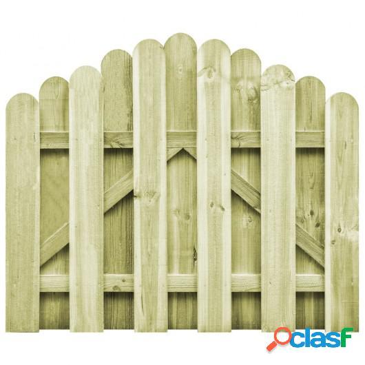 Puerta de jardín madera de pino impregnada 100x75 cm