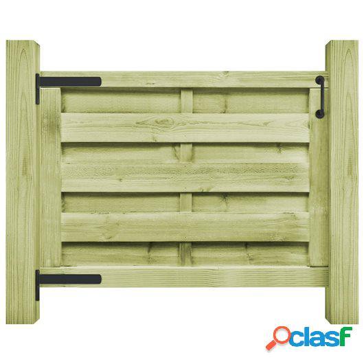 Puerta de jardín madera de pino impregnada FSC 100x75 cm