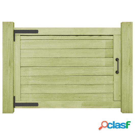 Puerta de valla de jardín madera pino impregnada FSC 75x100