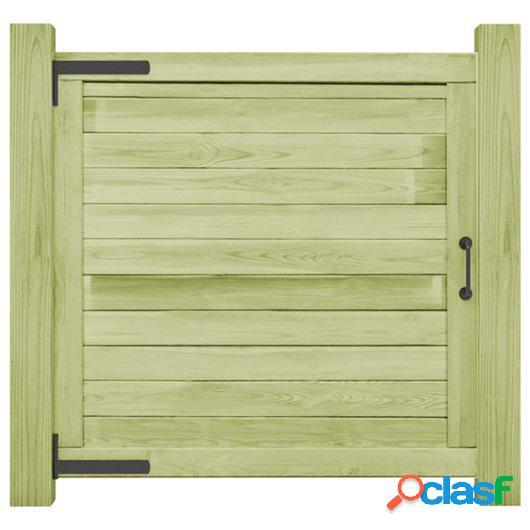 Puerta de valla de madera de pino impregnada FSC 100x100 cm