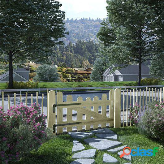 Puerta de valla de madera de pino impregnada FSC 100x60 cm