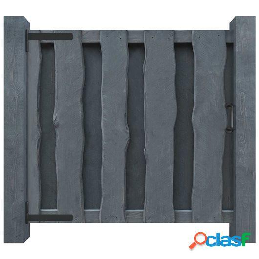 Puerta de valla de madera pino impregnada FSC 100x100 cm