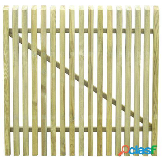 Puerta de valla de postes madera pino impregnada FSC 100x100