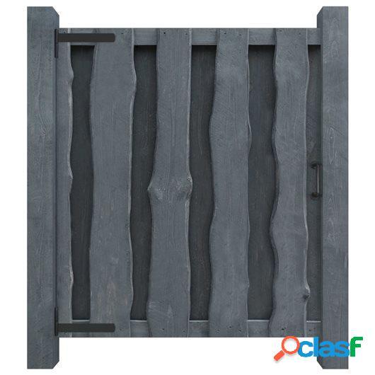 Puerta de valla madera de pino impregnada FSC 100x125 cm