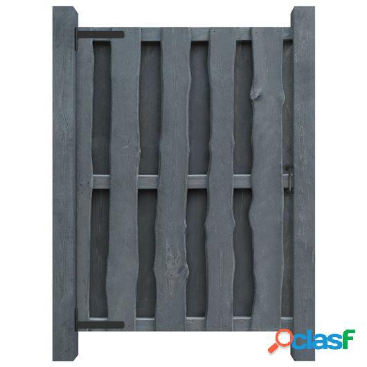 Puerta de valla madera de pino impregnada FSC 100x150 cm