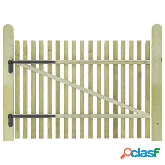Puerta de valla postes madera de pino impregnada FSC 100x75