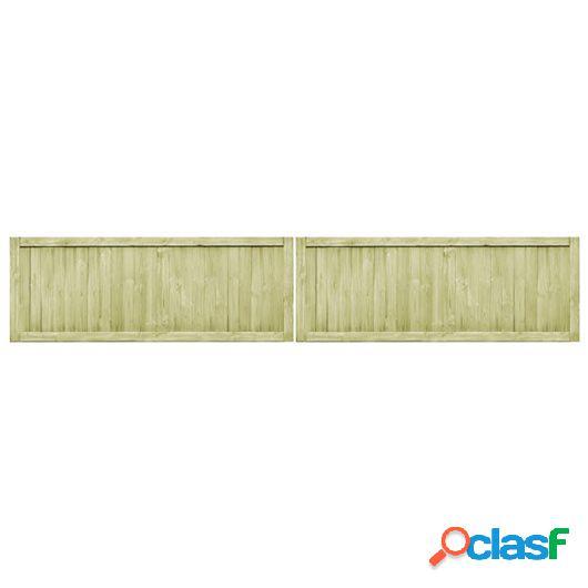 Puertas de valla de jardín 2 unidades madera pino FSC