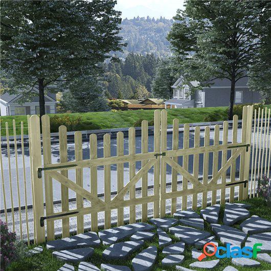 Puertas de valla madera de pino impregnada FSC 2 uds 150x150
