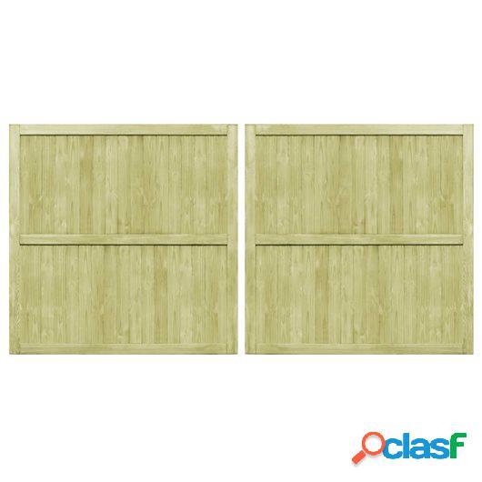 Puertas de valla madera de pino impregnada FSC 2 uds