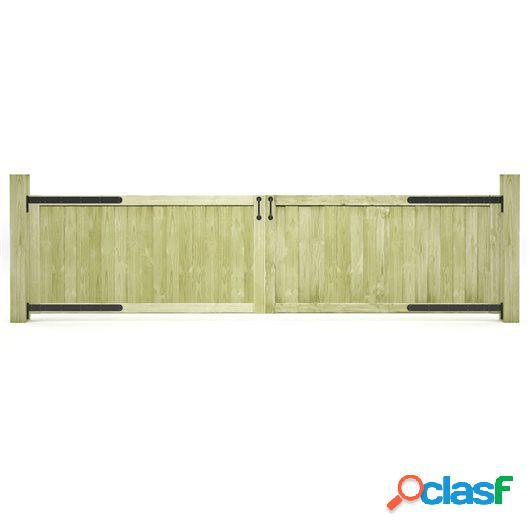 Puertas de valla madera de pino impregnada FSC 300x75 cm 2
