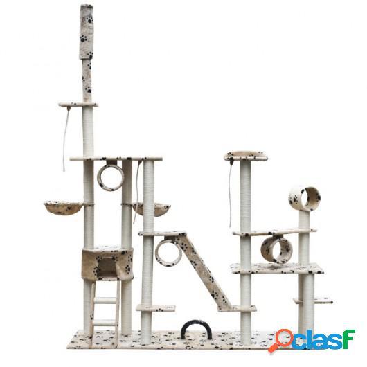 Rascador Para Gatos Lujoso 230-260 cm Beige Con Estampado De
