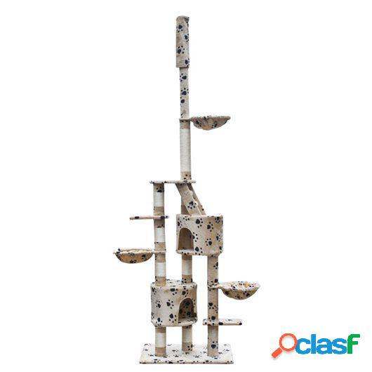 Rascador Para Gatos Xl 230-260 cm Color Beige Con Estampado