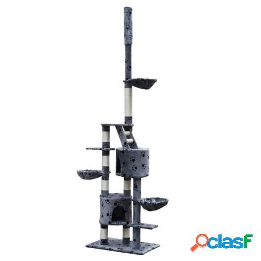 Rascador Para Gatos Xl 230-260 cm Gris Con Estampado De