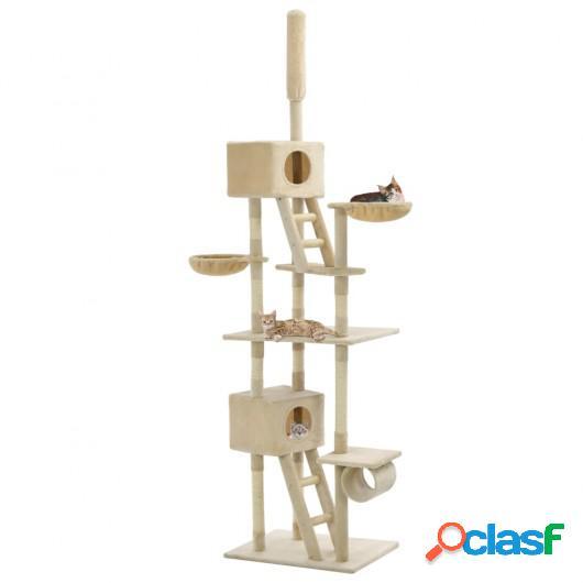 Rascador para gatos con poste rascador de sisal 230-260 cm