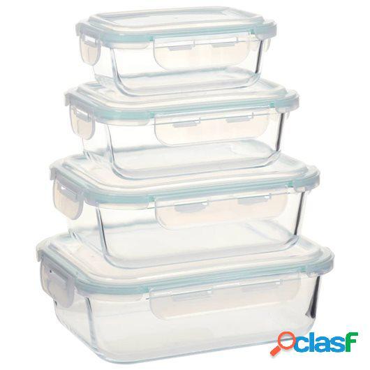 Recipientes para guardar comida 4 unidades vidrio