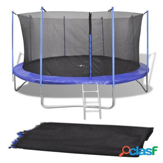 Red de seguridad para cama elástica redonda 4,26m negra PE