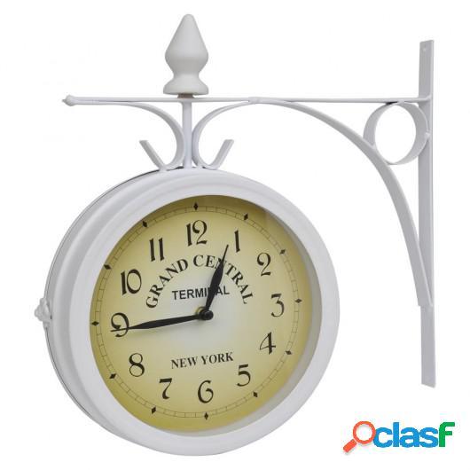 Reloj De Pared De Dos Caras Del Diseño Clásico