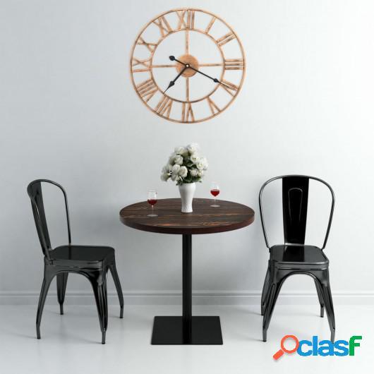 Reloj de pared de metal dorado 40 cm