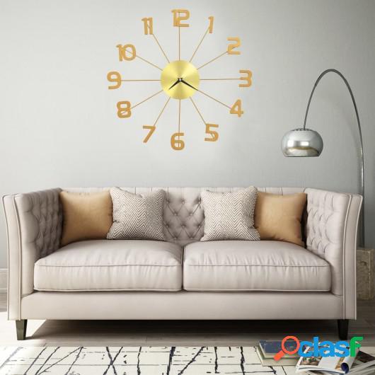Reloj de pared de metal dorado 50 cm
