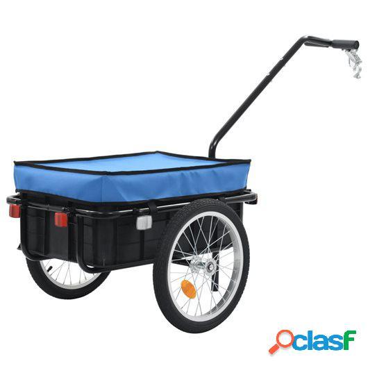 Remolque para bicicletas/carro de mano 155x61x83 cm acero