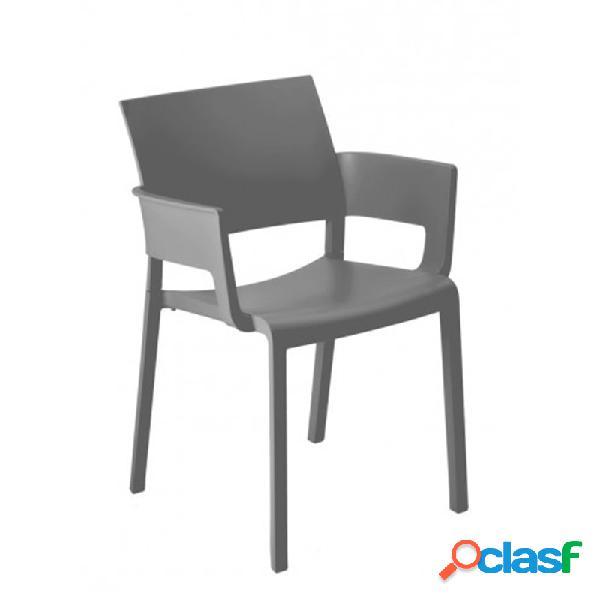 Resol - Pack de 2 sillas con brazos gris Fiona Resol
