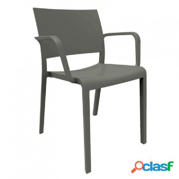 Resol - Pack de 2 sillas con brazos gris New Fiona Resol