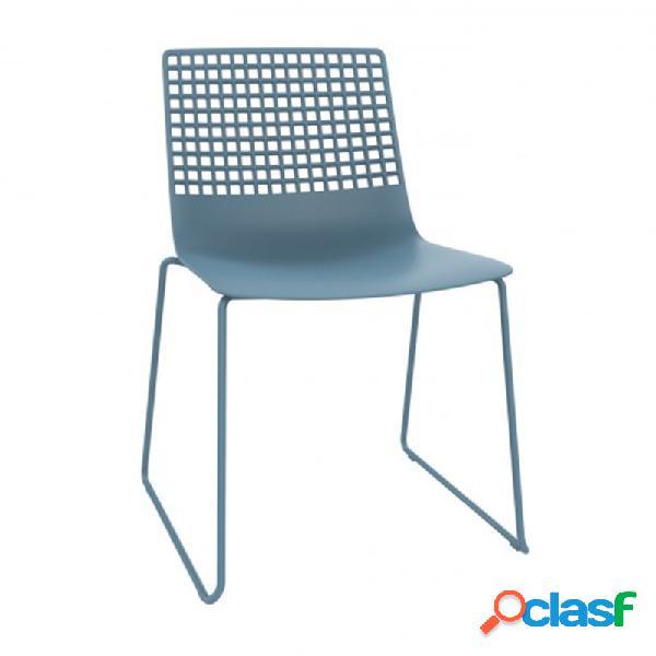 Resol - Pack de 2 sillas patín azul retro Wire Resol