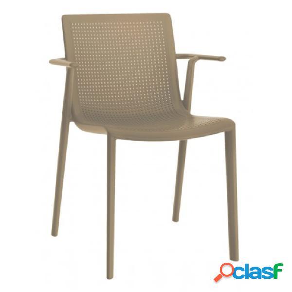 Resol - Set de 2 sillas con brazos arena Beekat Resol