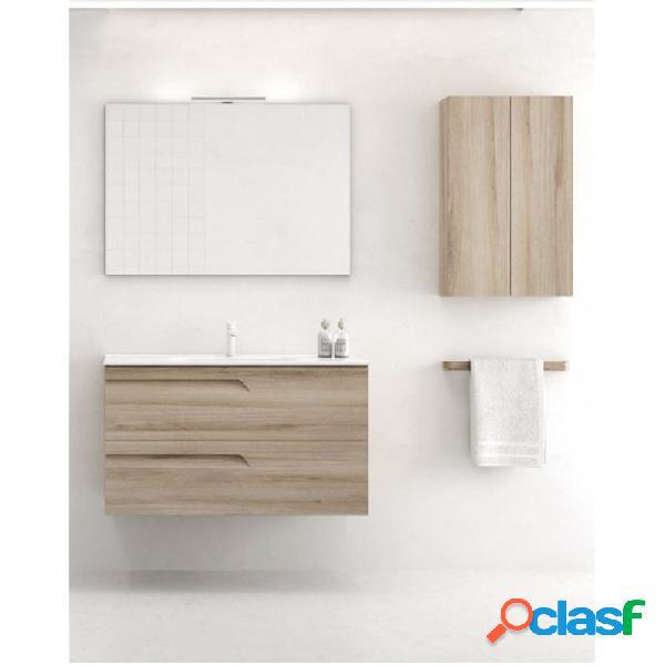 Royo® - Mueble de baño 2 cajones con lavabo cerámico de