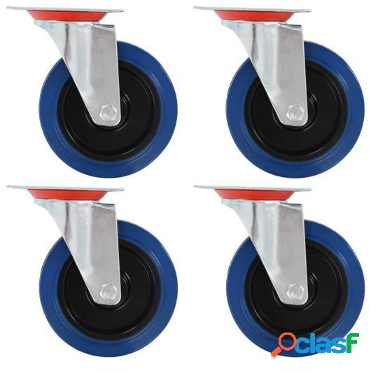 Ruedas giratorias 4 unidades 125 mm