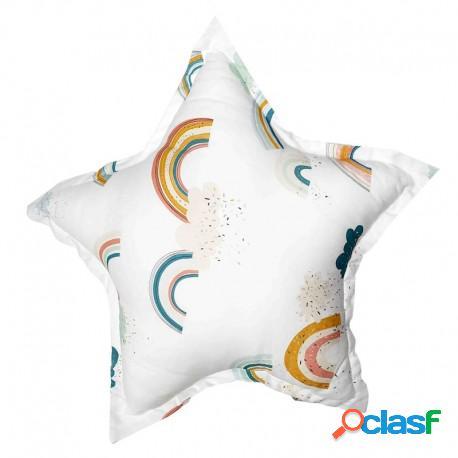 Samiboo - Cojín Decorativo Estrella Rainbow