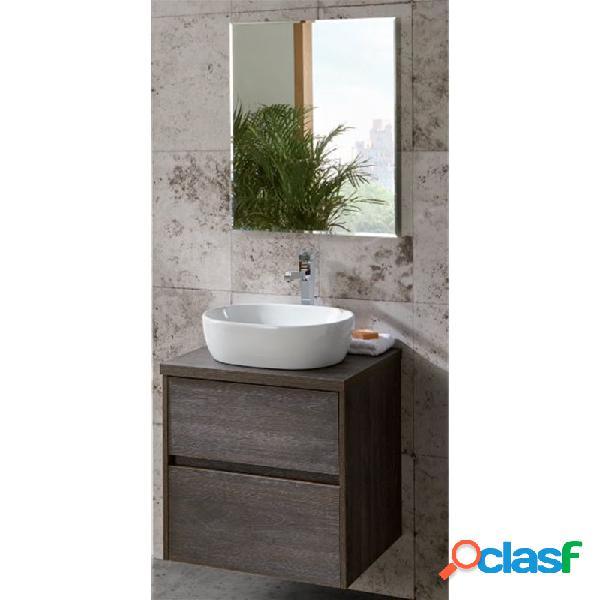 Sanchis - Pack mueble con 2 cajones, lavabo sobreencimera y