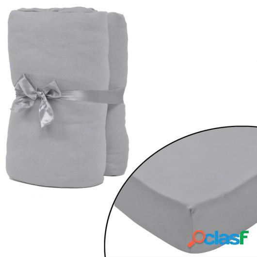 Sábana ajustada 2 uds algodón 160 g/? 180x200-200x220 cm