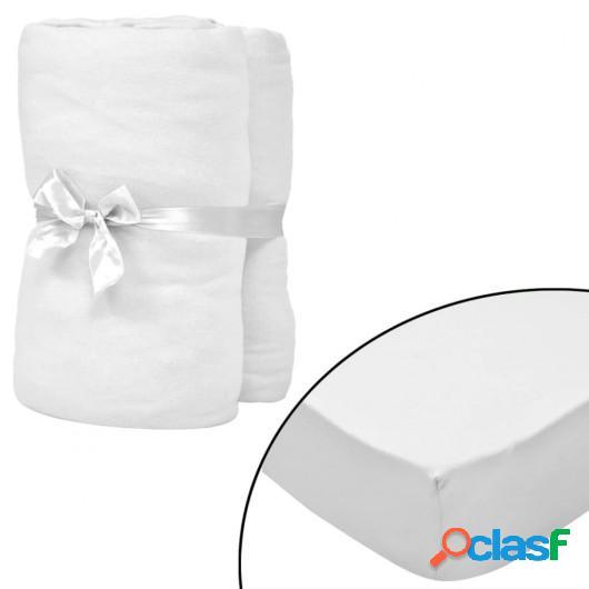 Sábana bajera para cama de agua 160x200 cm algodón blanca