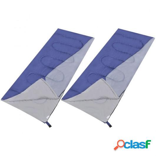 Set de 2 sacos de dormir rectangulares ligeros
