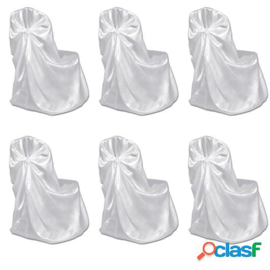Set de 6 Fundas blancas para sillas, banquetes y bodas