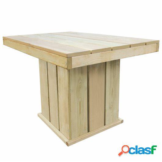 Set de comedor de jardín 4 pzas madera de pino impregnada