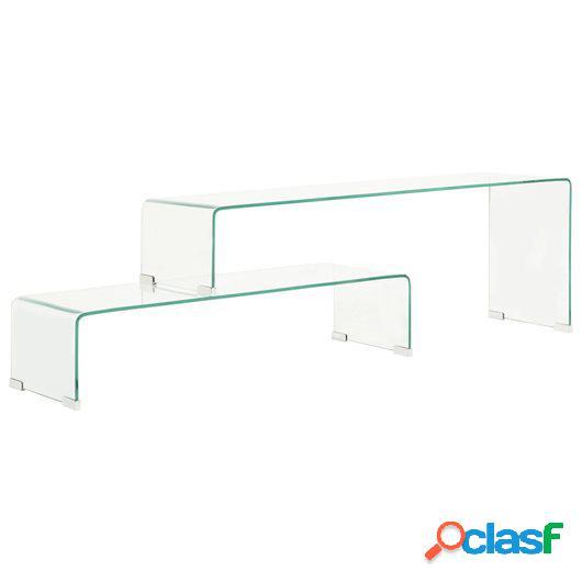 Set mesas de centro 2 pzas vidrio templado