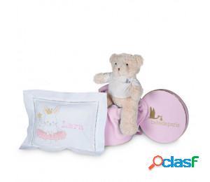 Set regalo bebé cojín bordado rosa