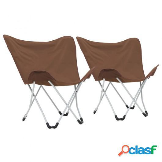 Sillas de camping estilo mariposa plegables 2 unidades